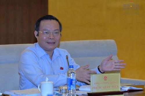 Ông Phùng Quốc Hiển - Phó chủ tịch Quốc hội. Ảnh: Quốc hội