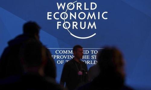 Một phiên họp của Diễn đàn Kinh tế Thế giới ở Davos đầu năm nay. Ảnh: Bloomberg