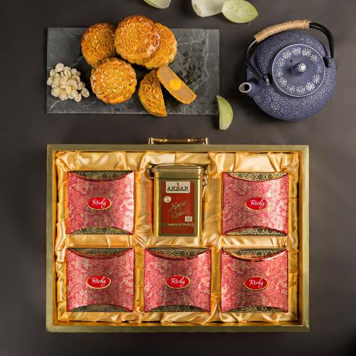 Richy đưa ra phân khúc 4 loại hộp quà sang trọng: Vượng Quý, Thu Nguyệt, Thành An và Nhật Thịnh.