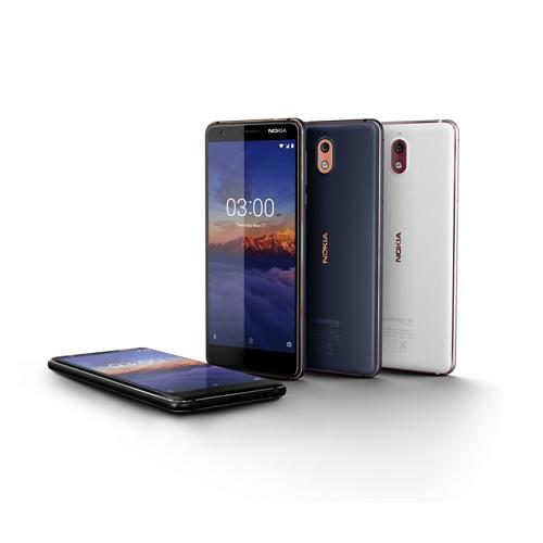 Nokia 3.1 có màn hình 5.2 inch, mật độ 18:9 và sử dụng mặt kính cong chống trầy xước Gorilla Glass