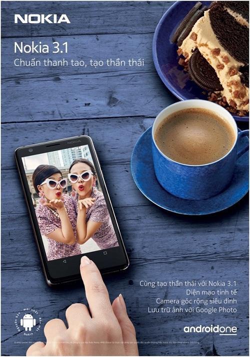 Nokia 3.1 là chiếc liên hệ nằm trong tầm giá rẻ.