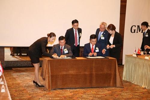 Đại diện tập đoàn DIC và GMG Holdings ký kết chọn lọc thành lập Công ty liên doanh DIC.