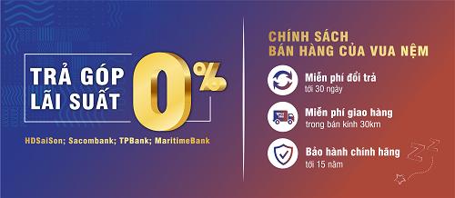 Vua Nệm còn cung cấp dịch vụ phân phối hàng trả góp lãi suất 0%.