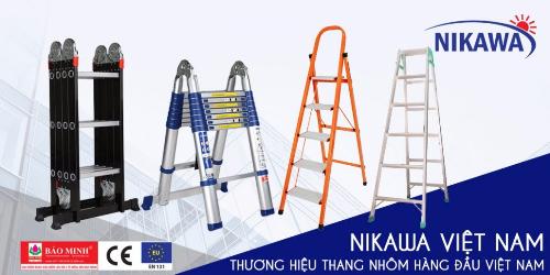 Thang nhôm đẳng cấp Nikawa là 1 trong một số mặt hàng mũi nhọn của Nikawa Việt Nam.