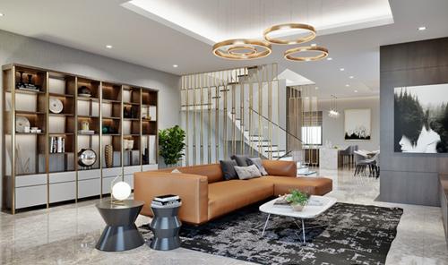Tầng hai của shop biệt thự là không gian sống riêng tư dành cho gia chủ có tổng diện tích mặt sàn rộng từ 93 đến 108m2. Chủ có có thể sáng tạo không gian sống theo sở thích của mình.