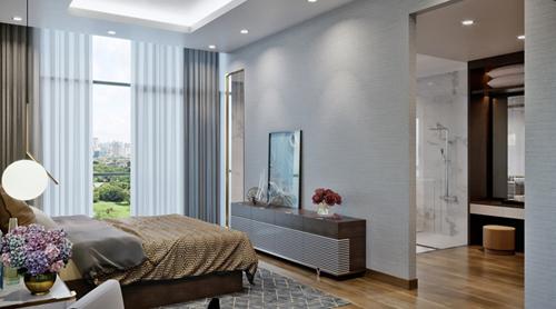 Các căn phòng có hướng nhìn thoáng đãng ra không gian xanh rộng lớn ngoại khu.