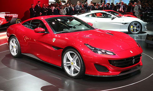 Siêu xe mới Ferrari Portofino ở triển lãm Frankfurt 2017. Ảnh: Carscoops.