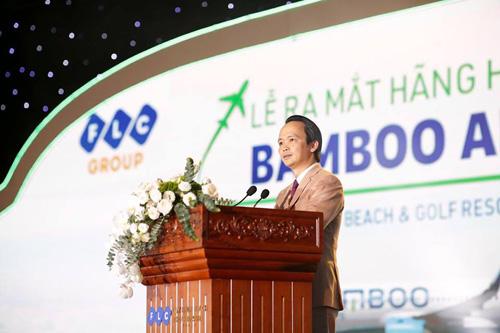 Ông Trịnh Văn Quyết, Chủ tịch Tập đoàn FLC, phát biểu