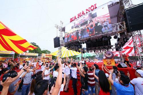 Lễ hội Bia Hà Nội diễn ra vào ngày 3/8/2018 ở Nam Định.