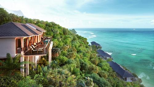 Biệt thự biển Banyan Tree Residences ở khu phức hợp nghỉ dưỡng Laguna Lăng Cô có tầm nhìn bao trọn vịnh Lăng Cô tuyệt đẹp.