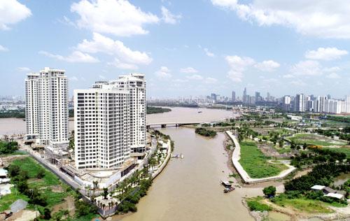 Canary tọa lạc ở địa điểm mũi kim cương đắc địa, tất cả căn hộ cao tầng đều có view sông.
