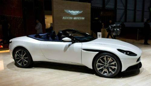 Mẫu DB11 trưng bày ở Geneva International Motor Show lần thứ 88. Ảnh: AFP