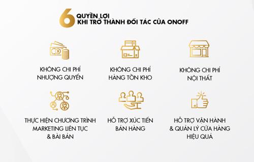 ONOFF ra mắt chính sách phân phối hàng nhượng quyền ưu đãi lôi kéo nhà đầu tư