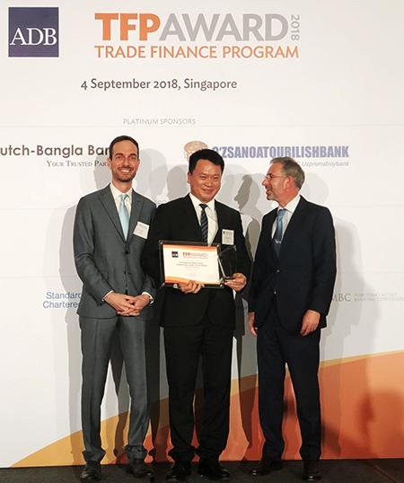 giải Ngân hàng hàng đầu Việt Nam về tài trợ thương mại cho doanh nghiệp vừa và nhỏ