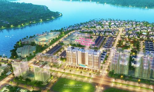 Phối cảnh khu căn hộ cao tầng Happy Premier - dự án mới vừa mở phân phối ở Phú Mỹ Hưng.