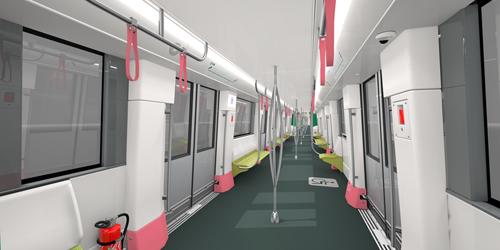 Tàu được nhà sản xuất Alstom (Pháp) sở hữu đầy đủ 1 vài tiện nghi tân tiến theo nguyên tắc châu Âu như điều hòa không khí, thông gió, loa, đèn LED tự động điều chỉnh ánh sáng cho thích hợp.