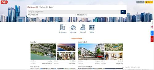 Đủ mọi căn hộ trên website rao bán nhà đất của VnExpress