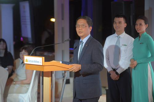 Bộ trưởng Công Thương Trần Tuấn Anh phát biểu ở lễ ký thỏa thuận.