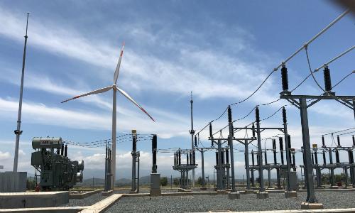 Dự án điện gió Phú Lạc (Bình Thuận). Ảnh: Hoài Thu