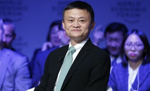 Jack Ma trong 1 sự kiện của Diễn đàn Kinh tế Thế giới (WEF). Ảnh: SCMP