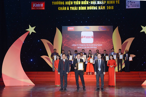 Wincent đạt giải Thương hiệu tiêu biểu hội nhập châu Á Thái Bình Dương.
