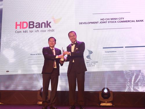 HDBank nhận giải Nơi làm việc tốt nhất châu Á 2018