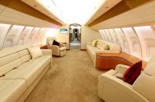 Một khoang hành khách khác trên chiếc máy bay được ví là khách sạn hạng sang của Quốc vương Qatar tặng Thổ Nhĩ Kỳ.