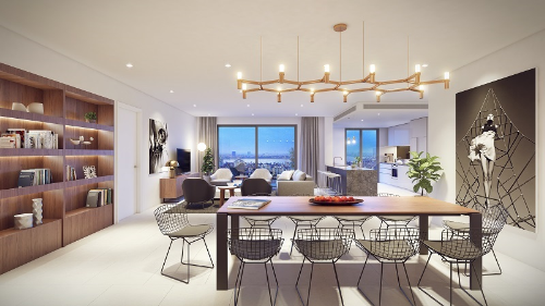 300 khách hàng dự ra mắt căn hộ tầng cao tại Kosmo Tây Hồ