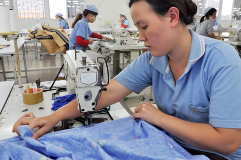 Dệtmay - ngànhđược dự báo có thểhưởng lợi nhất từ chiến tranh thương mại.
