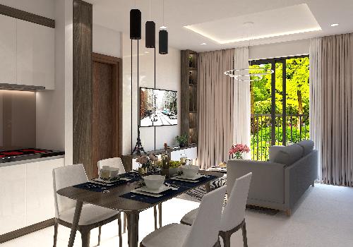Chủ đầu tư bàn giao các căn hộ Bcons - Suối Tiên hoàn thiện. Khách mua tựtrang trí nội thất theo gu thẩm mỹ và phong cách của mình.