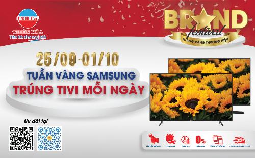 Khách hàng mua các sản phẩm Samsung có cơ hội trúng TV và quà tặng.
