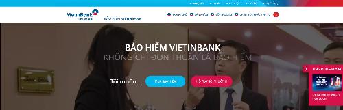 Bảo hiểm VietinBank ra mắt giao diện website mới