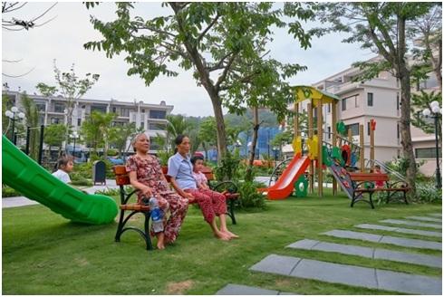 Không gian sống xanh tại Green Bay Garden Hạ Long