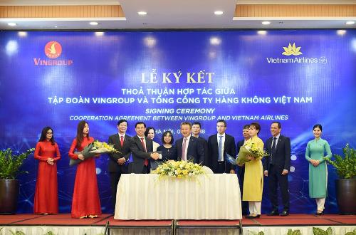 Vietnam Airlines, Vingroup bắt tay phục vụ khách hàng không, du lịch