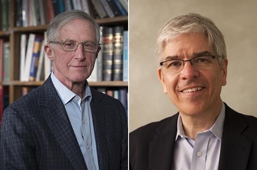 Ông William Nordhaus (trái) và ông Paul Romer - hai chủ nhân giải Nobel Kinh tế 2018.