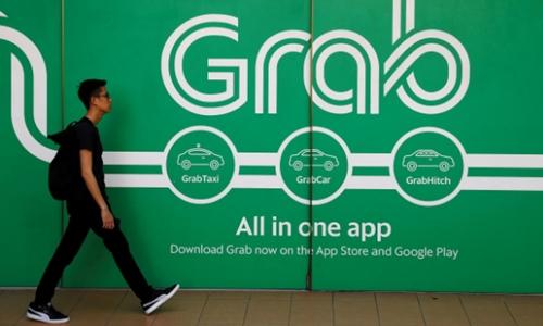 Bên ngoài một văn phòng của Grab tại Singapore. Ảnh:Reuters