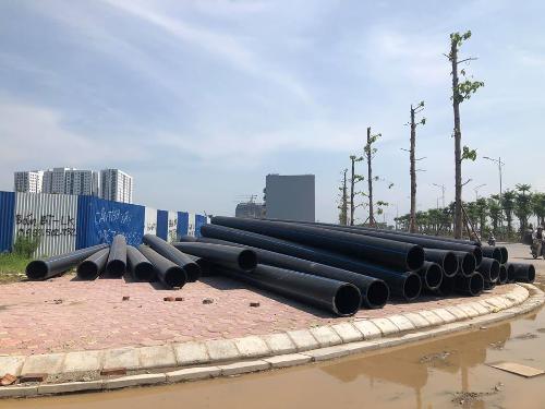 Hình ảnh tập kết đường ống dẫn nước Dismy D400 từ tháng 8/2018.