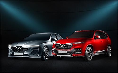 Hai mẫu xe sedan Lux A2.0 và SUV Lux SA2.0 của VinFast