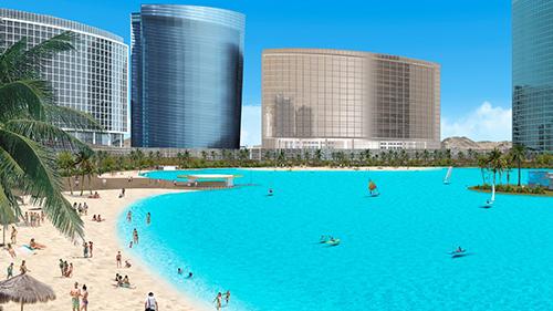Mô hình biển hồ nhân tạo xuất hiện ở dự án Vincity