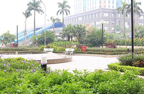 Hệ thống cây xanh được thiết kế và bố trí hợp lý đem lại cuộc sống an lành cho cộng đồng cư dân.