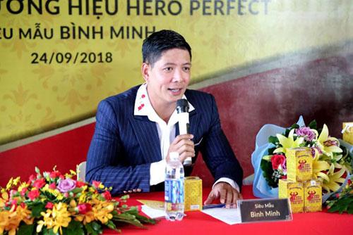 Siêu mẫu Bình Minh làm đại sứ sản phẩm tăng cường sinh lý