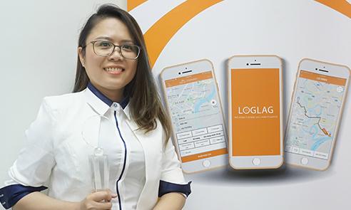 Chị Cao Thị Anh Thư - nữ Giám đốc Loglag Technology.