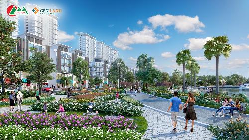 Khai Sơn Town mở bán shophouse mặt tiền 7m
