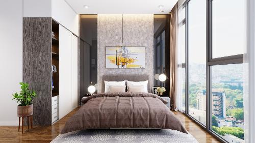 Với thiết kế tiêu chuẩn, 10/11 căn hộ đều là các căn góc với hai mặt thoáng nên cư dân có thể tận hưởng không khí trong lành ngay tại phòng khách, phòng bếp và cả phòng ngủ.