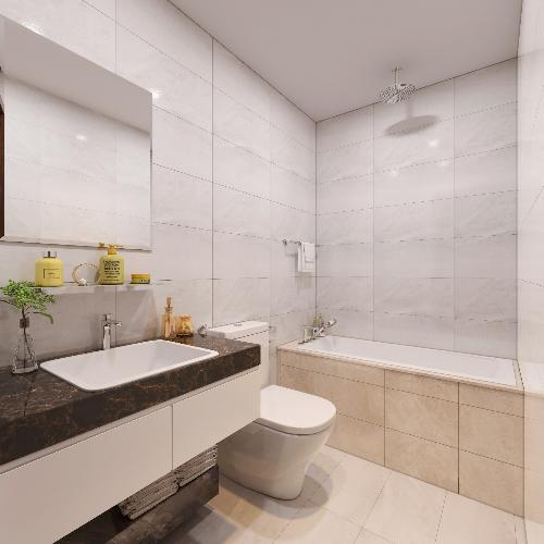 Nội thất nhà tắm sử dụng thương hiệu Duravit, HansGrohe hoặc Grohe nhằm mang tới sự thoải mái cho cư dân.