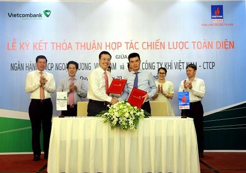 PV GAS ký kết thỏa thuận hợp tác chiến lược toàn diện cùng Vietcombank