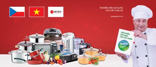 Elmich - thương hiệu đồ gia dụng cao cấp được Chính phủ Czech bảo trợ đăng ký toàn cầu.