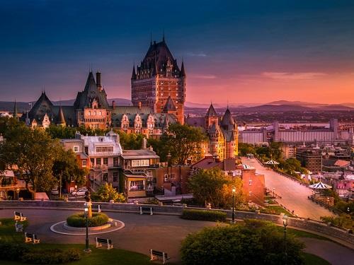 Fairmont Le Château Frontenac, khách sạn lịch sử ở thành phố Quebec, Canada. Ảnh: Shutterstock