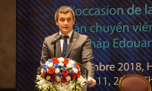 Ông Gerald Darmanin - Bộ trưởng Bộ Công vụ và Hành chính công Pháp. Ảnh: Viễn Thông