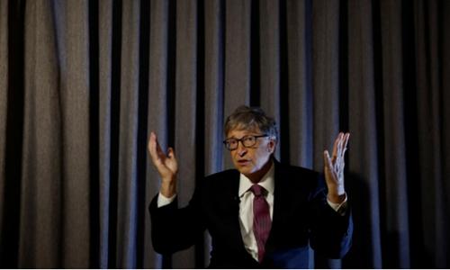 Bill Gates trong sự kiện Reinvented Toilet Expo hôm nay. Ảnh: Reuters
